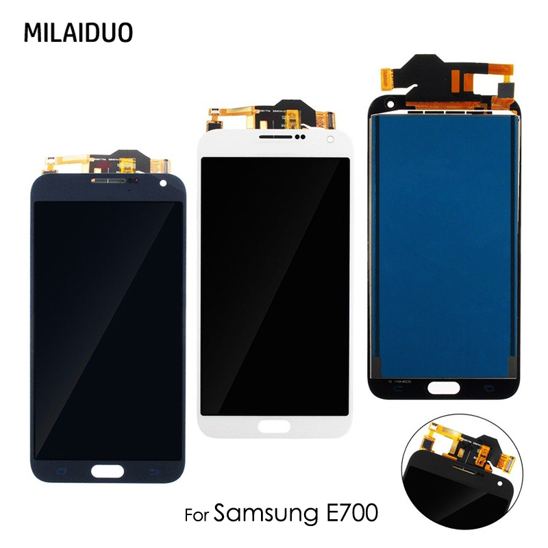 For Samsung Galaxy E7 E700 E7000 E700F 5.5 100% Tested Working LCD Display Touch Screen Digitizer Replacement Assembly ...