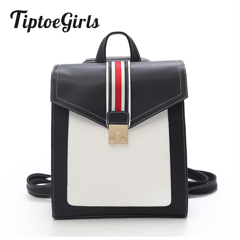 New Korean Fashion Casual Personality Stitching Hit Color Shoulder Bag Joker Simple Temperament College Wind Travel Backpack flb12084 hamburg s new fashion backpack shoulder bag college wind backpack schoolbag shoulder bag personality