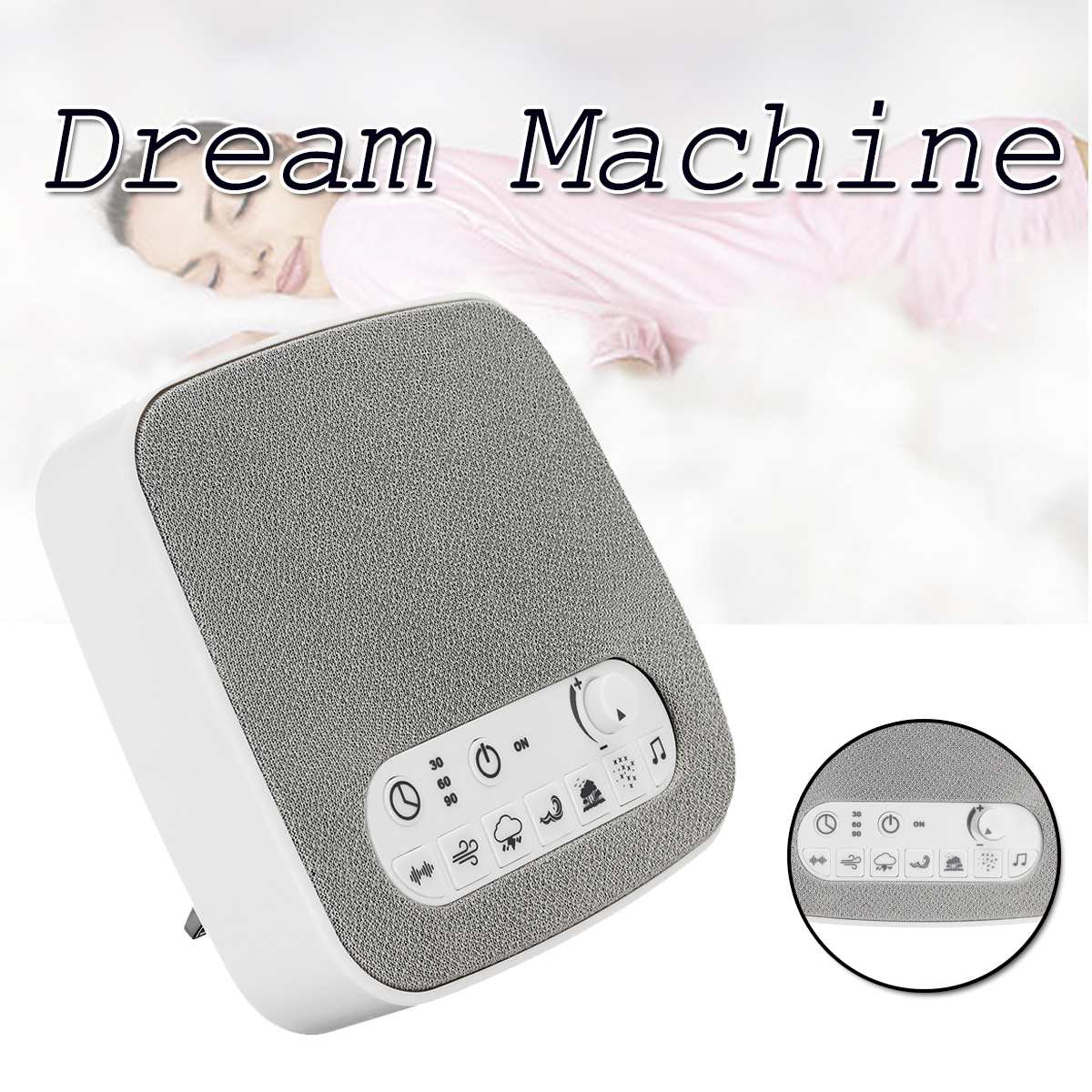 Baby Sleeping Monitor Sleep White Noise Machine Soothers Sound Record Voice Sensor with 7 Soothing Sound Auto off TimerBaby Sleeping Monitor Sleep White Noise Machine Soothers Sound Record Voice Sensor with 7 Soothing Sound Auto off Timer
