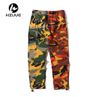 Patchwork Camouflage Cargo Pants Men 2017 New Fashion Loose Style Men S Pants Multy Camo Pants