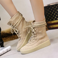 2016 Boots Season Chelsea Boots Top Quality flock Smoke Rubber Winter Snow Boot Women West Botas