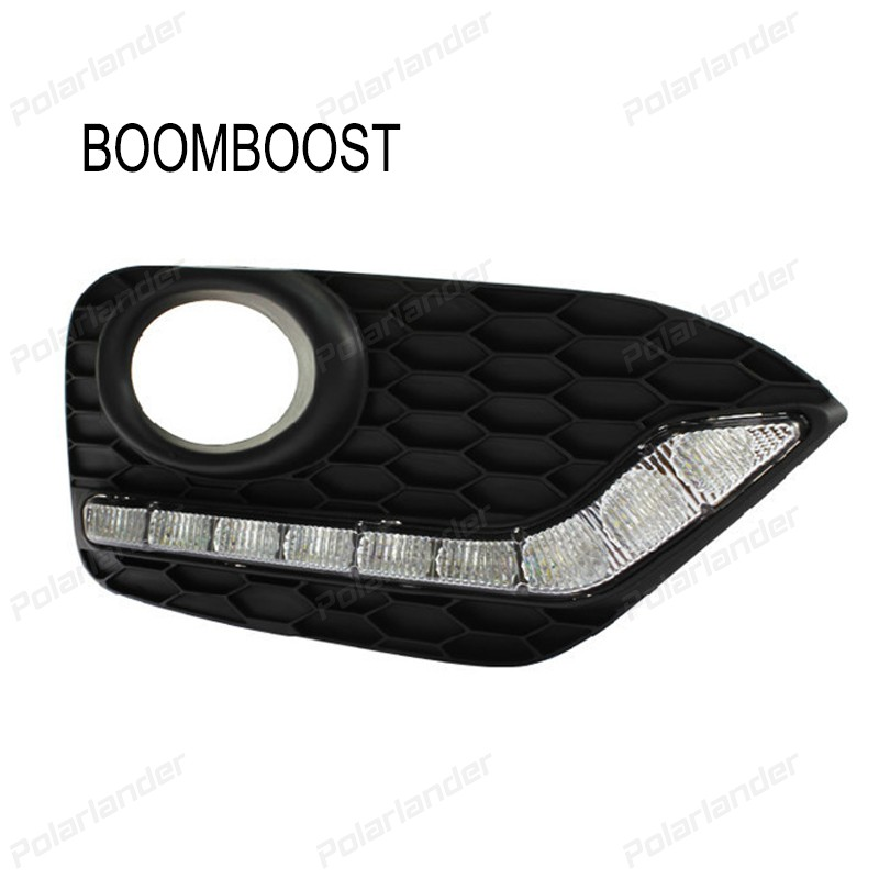 BOOMBOOST 2pcs car parts Daytime running lights Car styling for H/onda C/rosstour 2014-2015 boomboost 2pcs car accessory led for h onda f it or ja zz 2014 2015 car stylng daytime running lights
