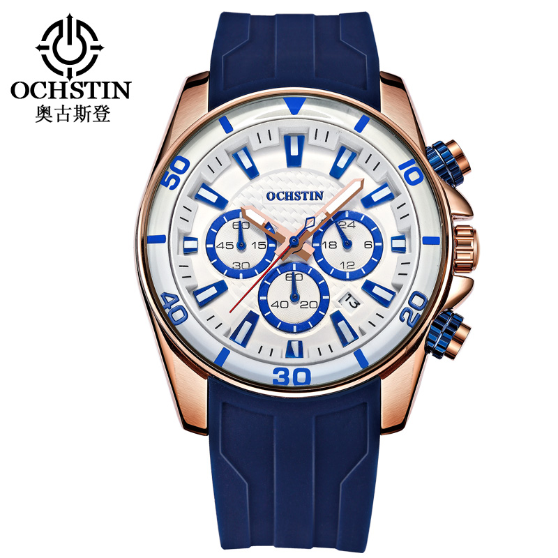 OCHSTIN Watches Men Top Brand Luxury Clock Men's Silicone Casual Quartz Relogio Masculino Male Army Military Sport Wrist Watch weide new men quartz casual watch army military sports watch waterproof back light men watches alarm clock multiple time zone