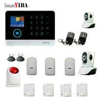 SmartYIBA wifi приложение управление SMS GSM сигнализация металлический пульт дистанционного управления 433 МГц беспроводные датчики сетевая камера