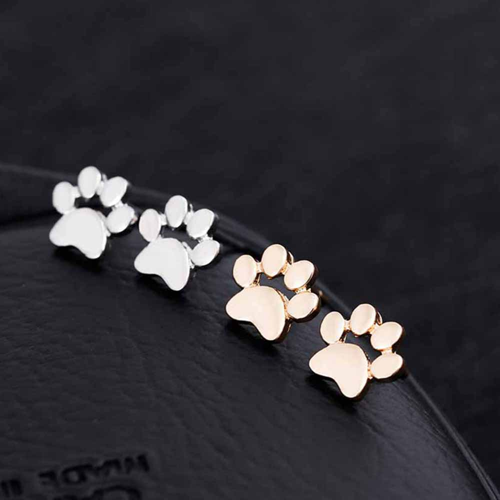 Famshin 2017 New Hot Fashion Cute Paw Print Earrings For