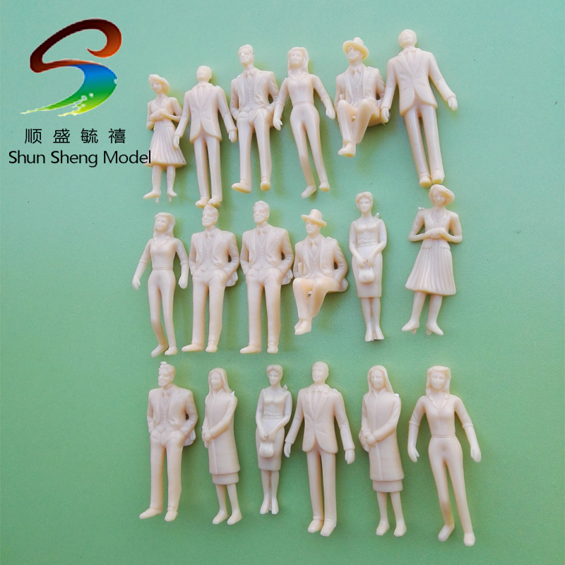 ヾ(^ ^)ノmodel making people ̿̿̿(•̪ ) architecture architecture 1:32 scale 6cm ABS ④ plastic ...