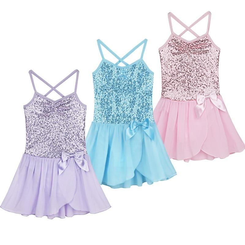 3-15Y Children Ballet Tutu Dress Sequins Summer Ballet costume Kids Gymnastics Leotard Dance Dress Ballerina Costume For Girls