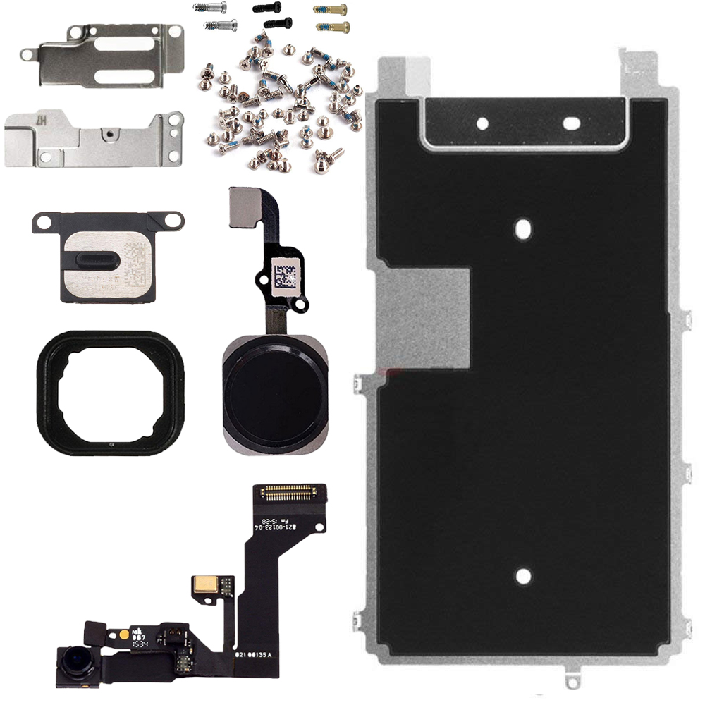 1pcs Full Set Repair Parts For iphone 6s LCD Screen Metal Plate Parts Front Camera Ear Speaker home button for iphone 6s plus image