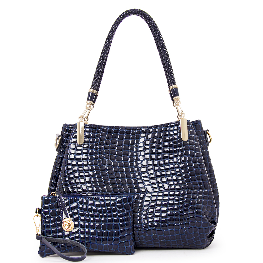 f6d2ea1872e9 Women luxury handbags new stylish female shoulder bags crocodile print bags  ladies Pu leather messenger bags casual totes B-16