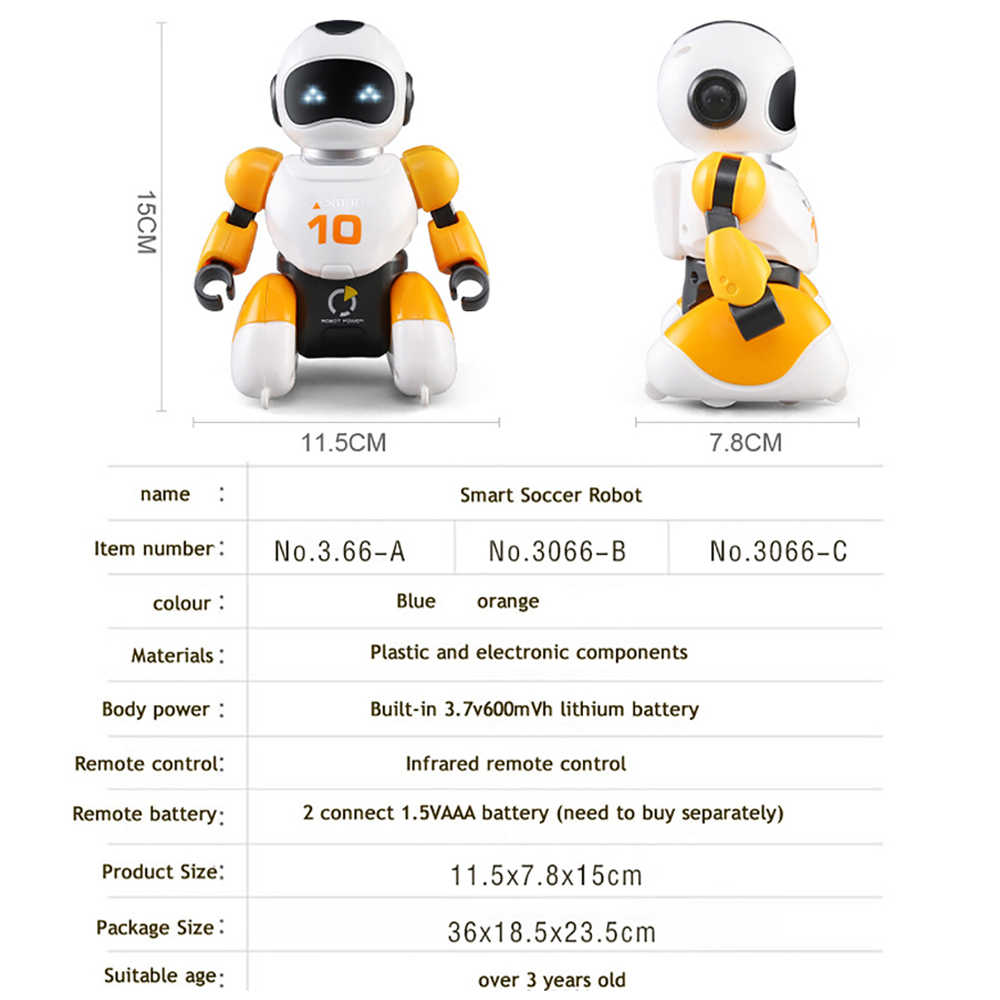 Smart USB Charging Remote Control Soccer Robot Toy Singing And Dancing  Simulation RC Intelligent Football Battle Robots Toys