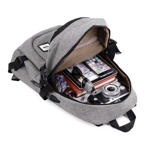 Image 4 - Mode mann laptop rucksack usb lade computer rucksäcke casual stil taschen große männliche business reisetasche rucksack