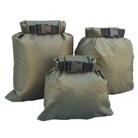 3 uds bolsa seca impermeable bolsa de almacenamiento Rafting canoa canotaje kayak llevar valiosos artículos perecederos 1,5 + 2,5 + 3.5L