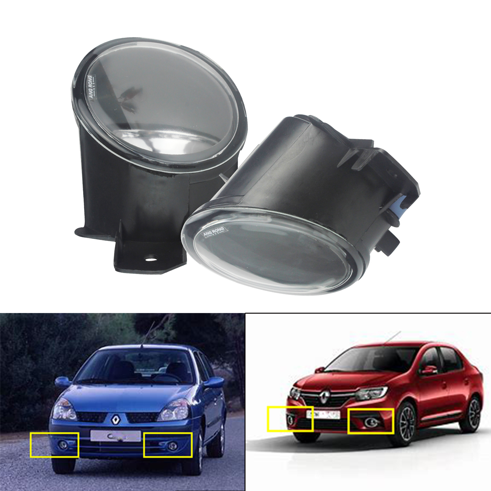 Opel Vauxhall Movano 2000 On Pair Right and Left Side Fog Light Lamp