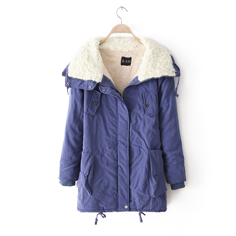 Winter Parkas 2019 Manufacturers wholesale Europe wind women's cotton jacket long more faux lambs wool quilted warm coat HS7372