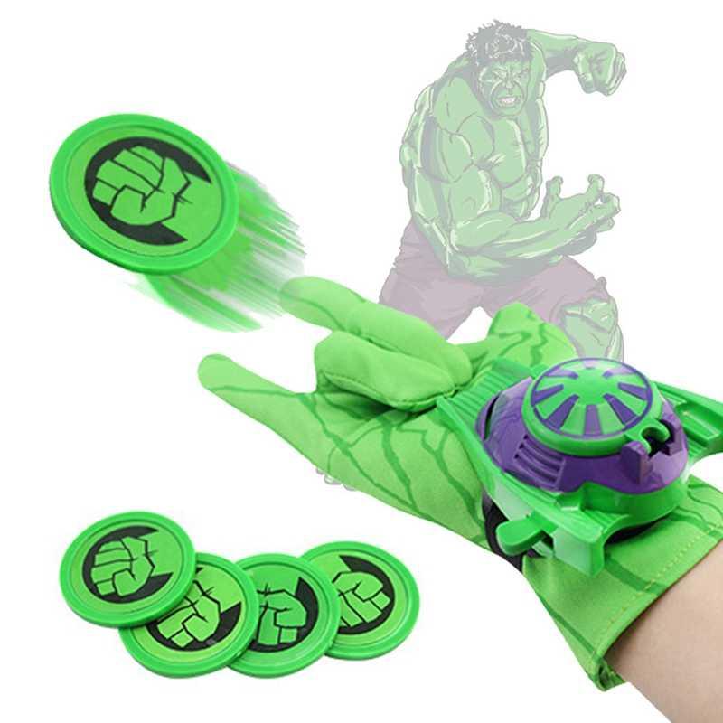 Мстители launch перчатка детская игрушка Marvel Человек-паук Железный человек Халк Капитан Америка Бэтмен модель фигурки Косплей вечерние подарки