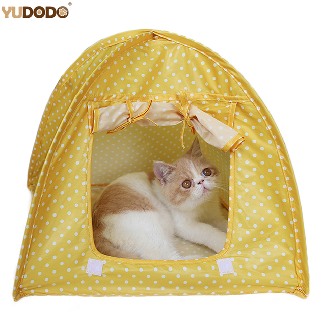 3 Colors Dots Small Pet Tent Portable Foldable Outdoor Waterproof Puppy Cat Kennel Tents Indoor Breathable  sc 1 st  AliExpress.com & 3 Colors Dots Small Pet Tent Portable Foldable Outdoor Waterproof ...