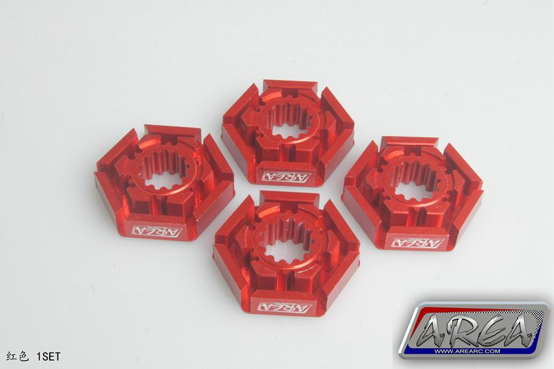 Area RC(1:5) rc car Strengthen wheel hex hub  adapter joint hexagonal For Traxxas X-MAXX 1/5 Monster Truck 6061-T6 1 pair car aluminum wheel spacer adapter hub flange 6 139 7 25mm for toyota prado2700 3400 4000 4500