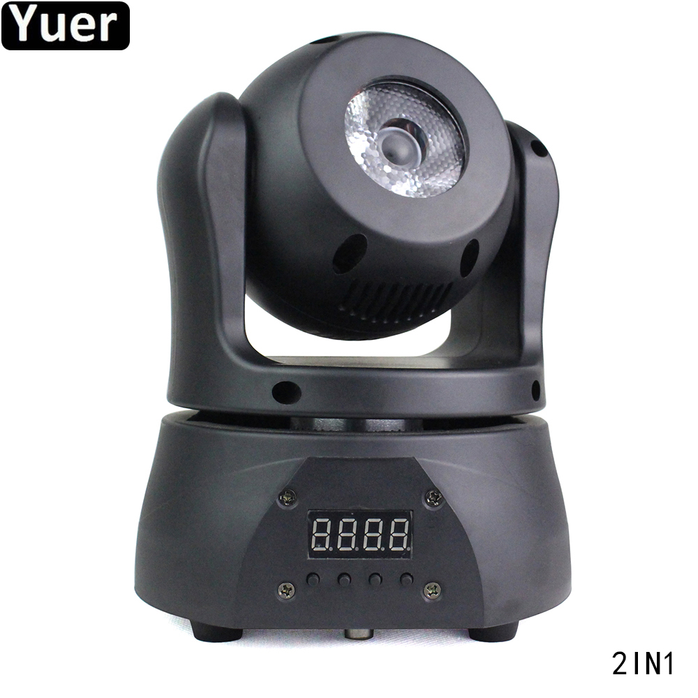 New Home Party 2IN1 Moving Head Light 15W 4IN1 CREE Lamp Beads Pocket Double-sided Moving Head DJ Disco Party Light For KTV Bar