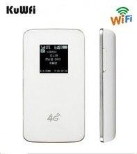 KuWfi Sbloccato 4G Wireless Router Pocket WiFi LTE Modem 4100 mAh Accumulatori e caricabatterie di riserva Corsa Esterna Router Con Slot Per Sim Card