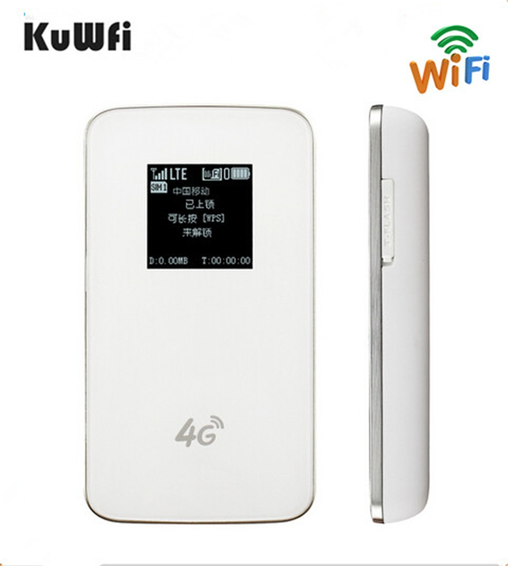 все цены на KuWfi Unlocked 4G Wireless Router Pocket LTE WiFi Modem 4100mAh Power Bank Outdoor Travel Router With Sim Card Slot