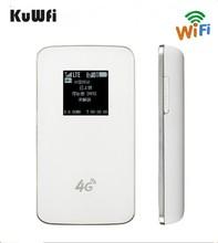 KuWfi разблокирована 4 г Беспроводной маршрутизатор карман LTE Wi-Fi модем 4100 мАч Мощность Bank Открытый Путешествия маршрутизатор с sim-карты слот