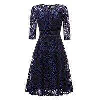 Sisjuly Women S Vintage Dress 2017 New Autumn Solid Three Quarter O Neck A Line Dress