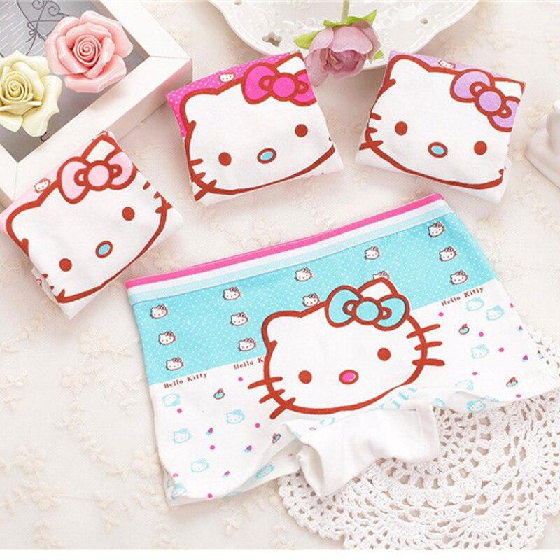 10pcs/lot Fashion New Cartoon Baby Girls hello kitty Cotton Panties Shorts For Kids Short Briefs Children Underpants 2-10Y 10pcs lot sn74ls06n dip 14 new origina