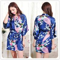 Women S Bathrobes Silk Robe Sexy Wedding Gown Nightgown Sleepwear Nightdress Satin Bath Robes Royal Kimono
