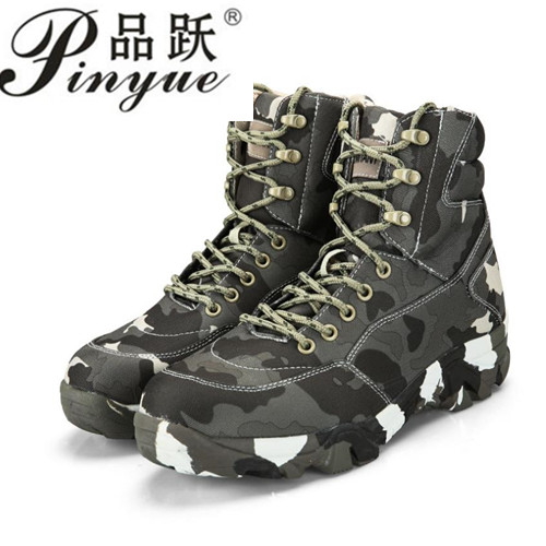 Men Hiking Shoes Leather Tactical Army Boots Outdoor Outventure Trekking Sneakers Men Ankle Military Comfortable Shoes men winter boots plush warm hiking boots outdoor tactical trekking shoes men genuine leather waterproof ankle boots men sneakers