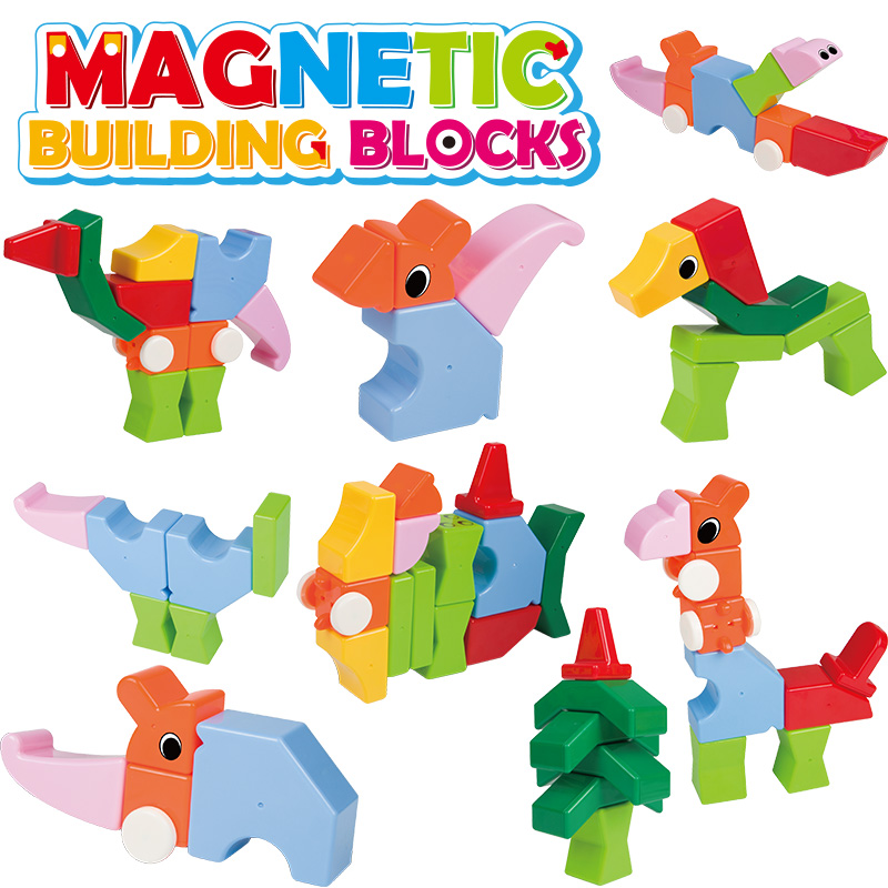 Magnetic Blocks Building over 3 years old large particles brick building blocks Sets Color training Toys For Children