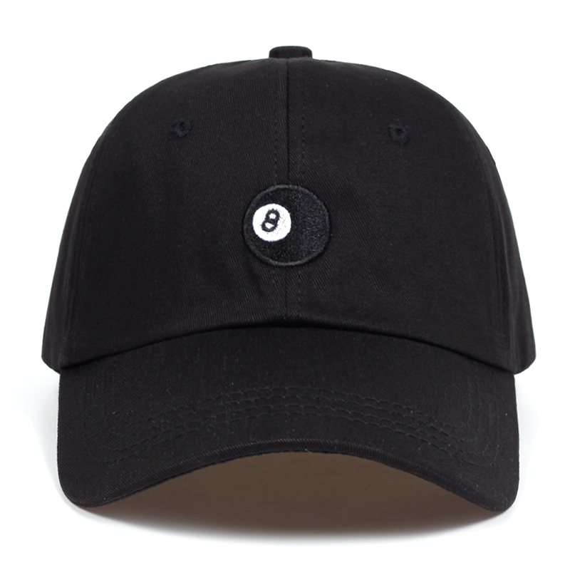 c8e20033f9d 8 Ball - black Unstructured dad hat fashion Baseball Caps High Quality  Snapback Cotton% golf cap hats Garros Casquette