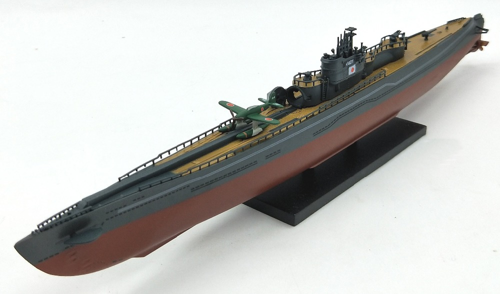 цена на Rare 1:350 World War II Japan Iraq 400 submarine model I401 water plane Alloy simulation model
