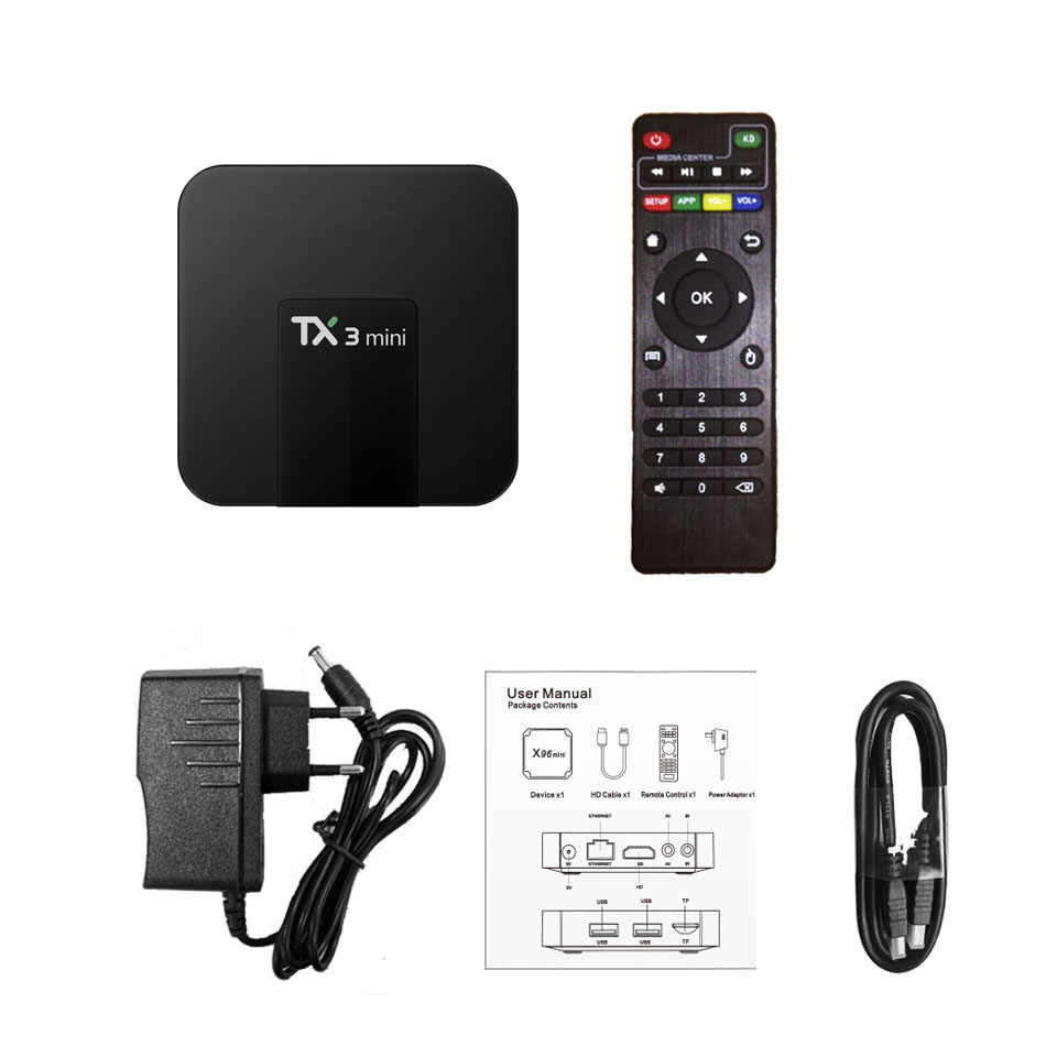 TX3 mini Android TV Box with skylive 1month subscription for UK Italy Germany Turkey Greece France Arabic India IPTV Set-top Box