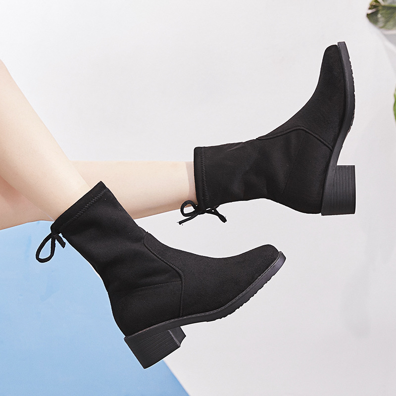 Women Boots Winter Lace Up Lady Boots Women Suede Ankle Boots For Female Pointed Toe Shoes Plush Booties Woman Plus SizeWomen Boots Winter Lace Up Lady Boots Women Suede Ankle Boots For Female Pointed Toe Shoes Plush Booties Woman Plus Size