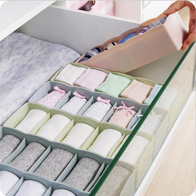 Красочные дома ящик рабочего Коробка для хранения пять решетки многоцелевой нижнее белье носки галстук коробка для хранения Шкаф Организа...