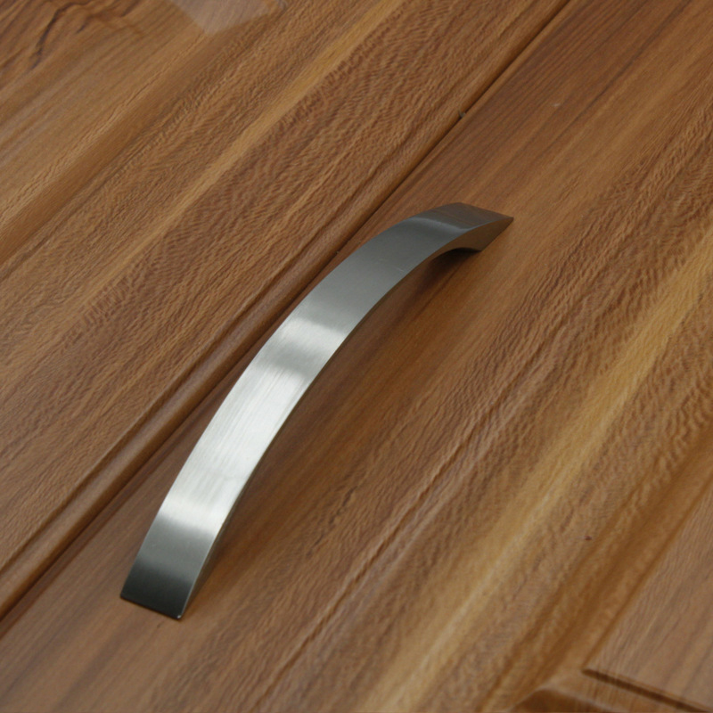 MEGAIRON Aluminum Alloy Door Knobs and Handles Kitchen Drawer Wardrobe Cabinet Cupboard Pull Handle 96-160mm Silvery Color Pulls hot brown handle single hole leather door handles cabinet cupboard drawer pull knobs furniture kitchen accessories 96 160 192mm