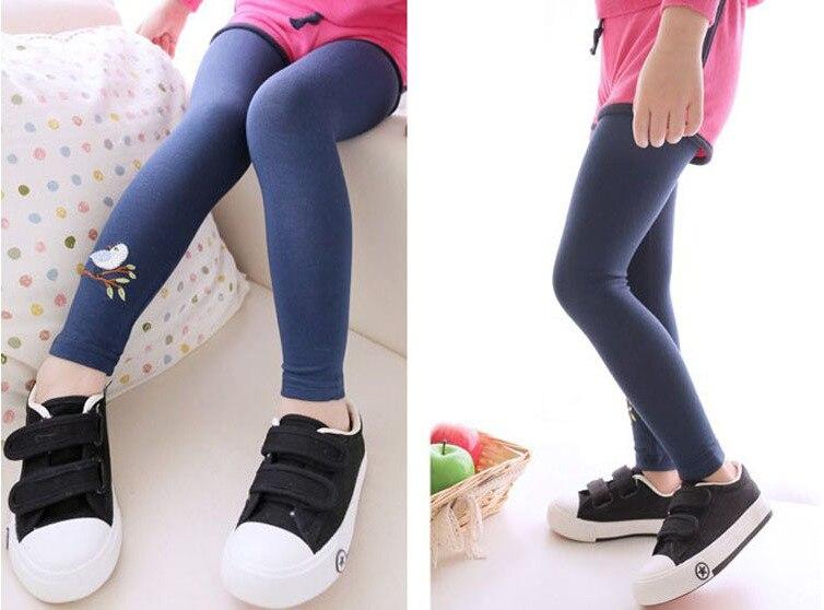 New Toddler Baby Girls Kids Skinny Pants Warm Leggings Girl Bird Pattern Stretchy Pants Trousers Hot 10