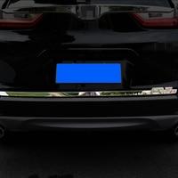 For Honda CRV 2017 2018 2019 Stainless Steel Door Sticker back door Tailgate trim Car Styling Accessories 1pcs