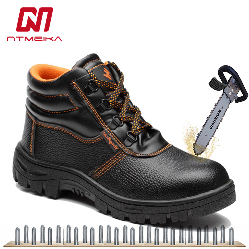 Pu Leather Men Safety Shoes Steel Toe Protective Footwear Lightweight Black Work Boots Men Work Shoes Casual Safety Boots Back To Search Resultsshoes