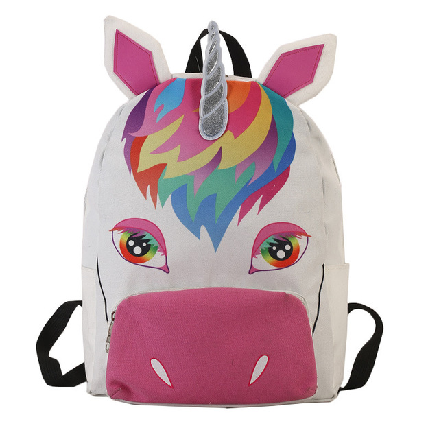 7ebb5c0385ee 2018 New Arrival Unicorn Kawaii Women Backpack Mochila Feminina Unicorn  Rainbow Printing Backpack Canvas Travel Bags