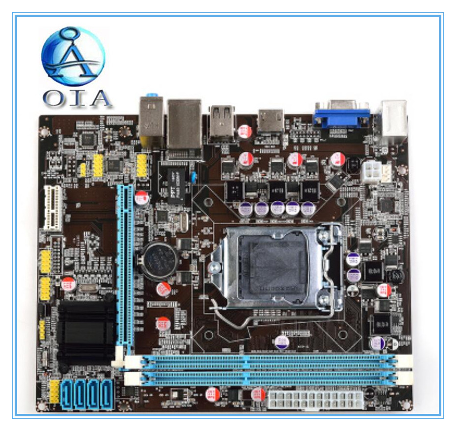 100% New  desktop motherboard  OIA  H61 LGA 1155 ddr3  boards mainboard  free shipping asus m4a78 vm desktop motherboard 780g socket am2 ddr2 sata2 usb2 0 uatx second hand high quality