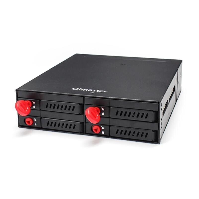MR-6401 boîtier PC châssis 4 baie disque dur boîtier d'extraction pour 2.5 pouces SATA mécanique HDD SSD disque dur à semi-conducteurs