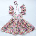 new style girl dress Newborn baby dress, vintage flower sleevess cotton  girls dress summer beautiful dresses