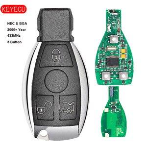 Image 2 - Keyecu akıllı anahtar 3 Düğmeler için 315 MHz/433 MHz Mercedes Benz Oto Uzaktan Anahtar Desteği NEC Ve BGA 2000 + yıl