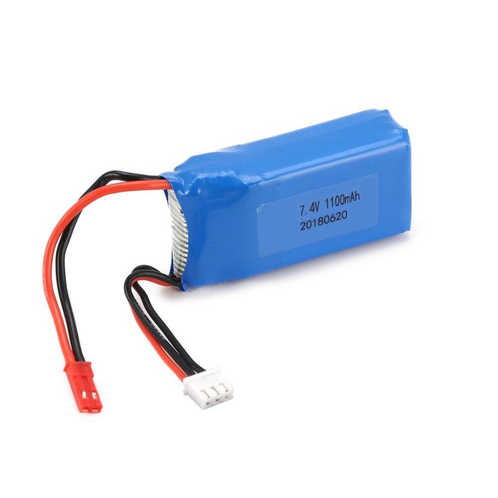 LiPo Batterie 7.4 v 1100 mah JST Plug LiPo Batterie 1/18 RC Voiture pour Wltoys Off-road Buggy A949 a959 A969 A979 K929 Pièces De Rechange