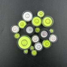 (100 Peças/lote) frasco nível de Espírito nível de bolha Em Volta de mini nível de espírito Bolha Bullseye instrumento de medição de Nível