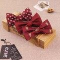 14 dos homens cor da moda designers laços bowtie dot impressão jacquard preto vermelho high-end para os homens de casamento noivo 1200 agulha 10 pçs/lote