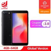Оригинальная глобальная версия Xiaomi Redmi 6 4 Гб Оперативная память 64 Гб Встроенная память 5,45