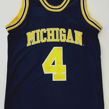 429186c28 Vintage MICHIGAN WOLVERINES #4 CHRIS WEBBER Basketball Jersey Embroidery  Stitched Customize any number and name
