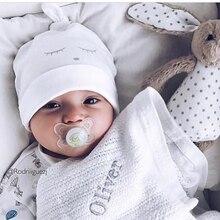 Фирменный Чепчик для сна для новорожденных, шапка для детей, шапка для девочек, шапка для мальчиков, хлопковая шапочка, шапочка для малышей, шапка для малышей
